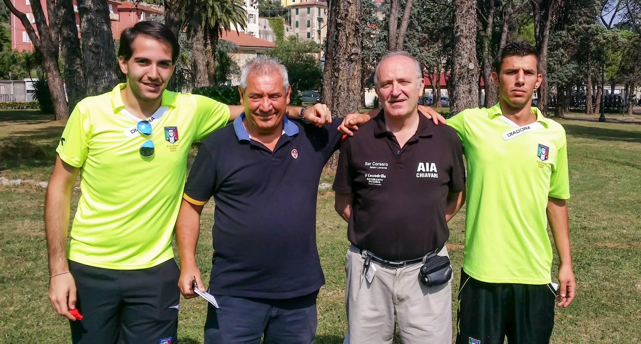 Da sx: AE Emmanuel Crova, AB Giovanni Piero Garilli, AB Giorgio Bacigalupi, AE Emanuele Quercioli