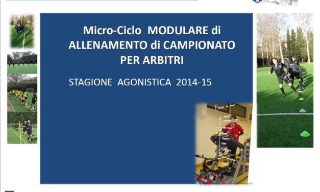 Programma modulare allenamento Arbitri – campionato 14/15