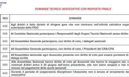 Archivio quiz tecnici-associativi 2015