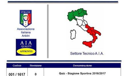 Archivio quiz tecnici-associativi 2016